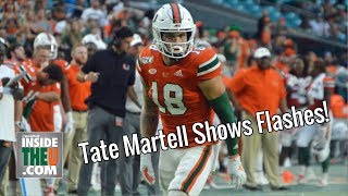 Tate Martell One-Handed Catch! Nearly Scores TD in Miami Home Debut