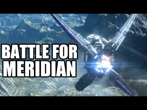 MASS EFFECT ANDROMEDA - Battle for Meridian - Spaceship Fight Scenes