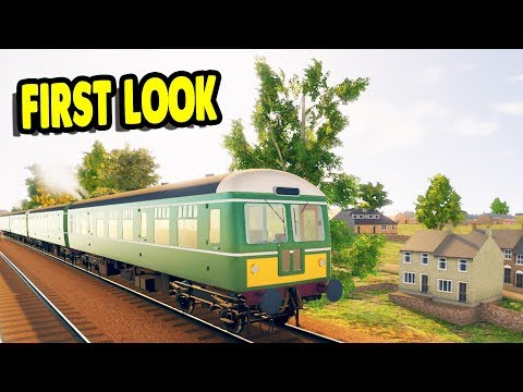 FIRST LOOK Realistic Looking Diesel Train Simulator | Diesel Railcar Simulator Gameplay