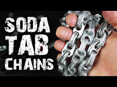 How to make Chains from Soda Can Tabs