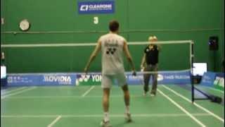 peter gade trick shots part 2 clearone badminton centre