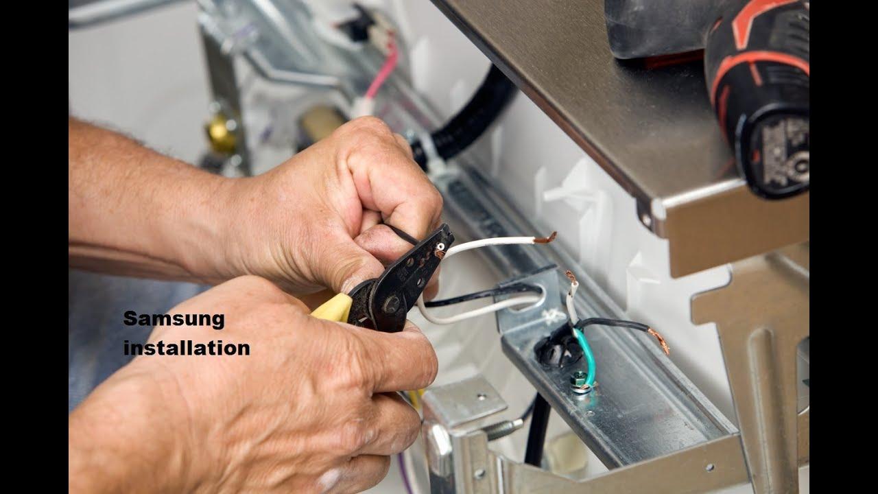 New Samsung Dishwasher Installation Youtube