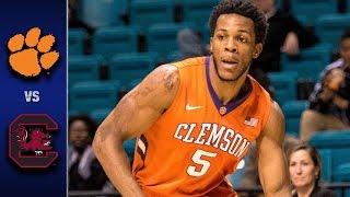 Clemson Vs. South Carolina Men's Basketball Highlights (2016-17)