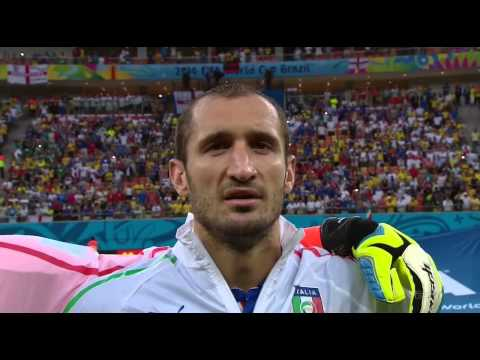 Italy Nation Anthem World Cup 2014 vs England Full HD