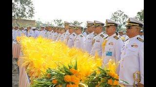 กองทัพเรือ ทำบุญตักบาตรพระสงฆ์ 89 รูป เนื่องในวันคล้ายวันสวรรคต ร.๙
