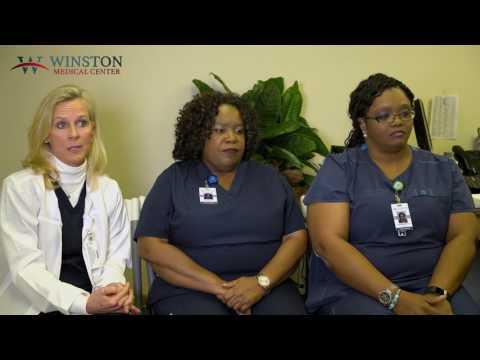Nurses Lori Roberts, Nellie Darden and Kimberly Moore – Winston Medical Center