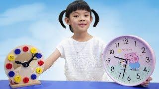 Dạy Bé Xem Giờ Đồng Hồ ❤ AnAn ToysReview TV ❤
