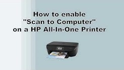 """Enable """"Scan to Computer"""" on your HP Printer"""
