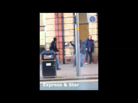 EXCLUSIVE: Knife and hammer attack in Wolverhampton city centre