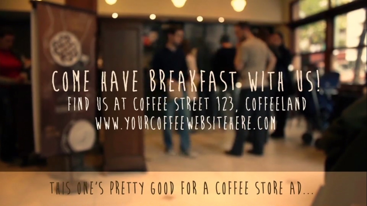 Coffee Shop Promo Video - After Effects Template