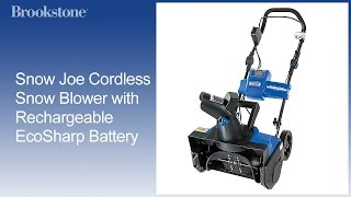 Snow Joe Cordless Snow Blower with Rechargeable EcoSharp Battery