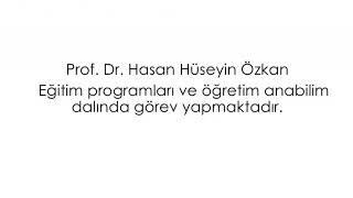 Gambar cover Prof. Dr. Hasan Hüseyin Özkan