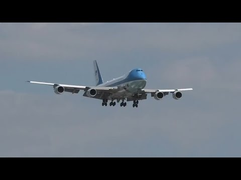 Air Force One and President Biden at London Heathrow Airport