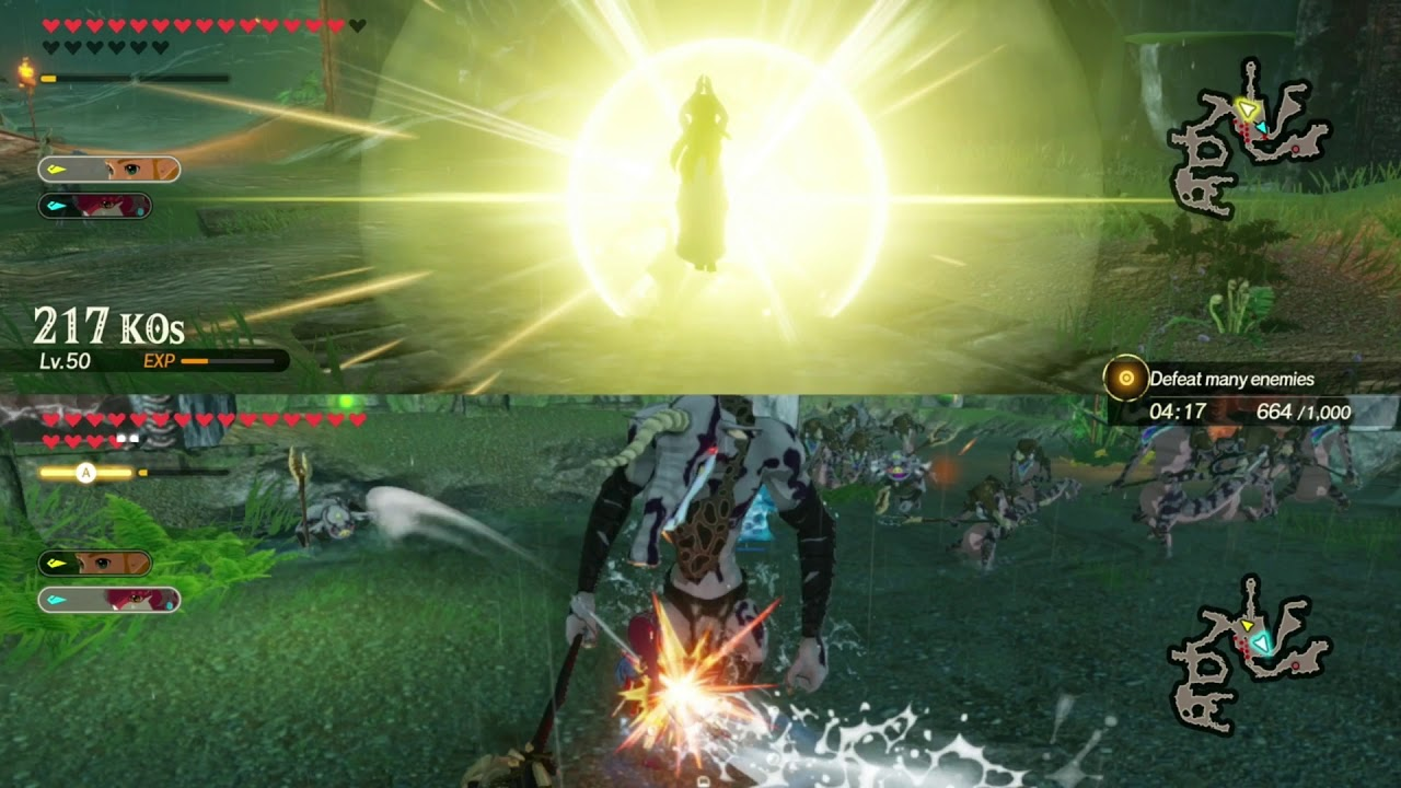 Zelda S Training Bows Hyrule Warriors Age Of Calamity Multiplayer Let S Play Part 103 Youtube