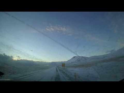 Iceland: Reykjavik to Hellissandur Drive - Timelapse -  2016 12 24