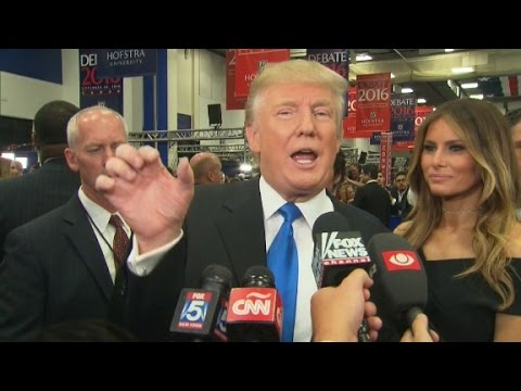 Trump complains about debate mic