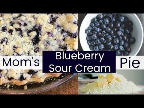 Mom's Blueberry Sour Cream Pie