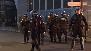 Blocus de lycées : incidents et poubelles en feu (11 décembre 2018, Boulogne-Billancourt, France)