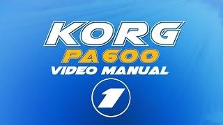 Korg Pa600 User Manual (російська) 1/7