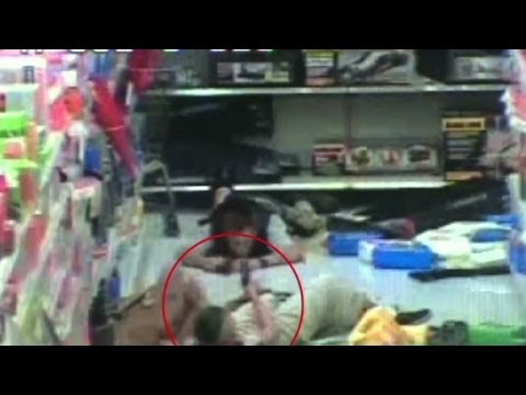 Tape shows Las Vegas shooters moments before death
