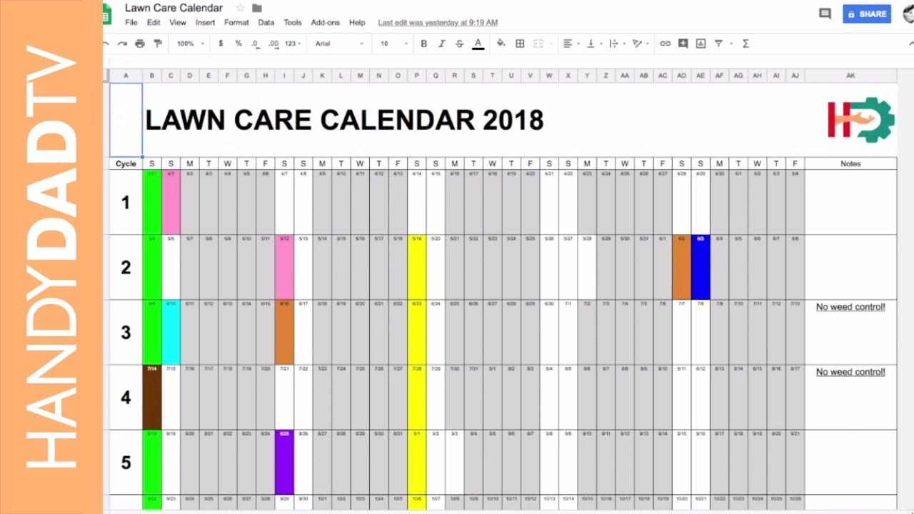 2018 Lawn Care Calendar - YouTube