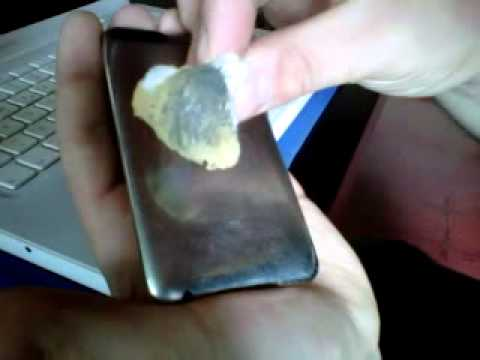 Pulir ipod quitar o eliminar rayones iphone sin gastos - Como limpiar aluminio ...
