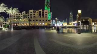 Burj Khalifa & Fountain View | Downtown Dubai | 360 Spherical Panorama