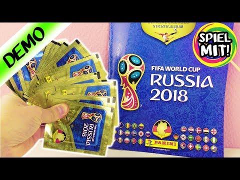 2018 PANINI Sticker Album Russland WM - Kaan öffnet 20 Packungen auf einmal! Seltene Sticker dabei?