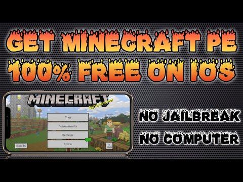 how-to-get-minecraft-pocket-edition-free-2019-(no-jailbreak/pc)-ios-13,12,11,10,9