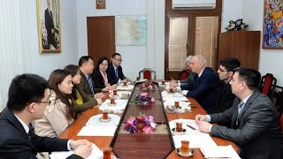 Secretary General of Xinjiang Institute of Foreign Affairs hails AZERTAC`s producing news in Chinese