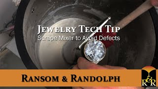 Jewelry Tech Tip: Scrape Mixer to Avoid Defects