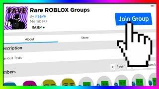 RARE ROBLOX GROUPS...