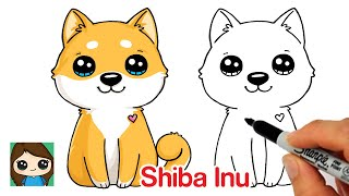 How to Draw a Puppy Dog Easy | Shiba Inu