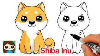 How to Draw a Puppy Dog Easy | Shiba Inu