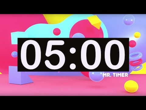 Timer for Kids 5 Minutes! Timer with Music for Classroom! Instrumental  Music for Kids Upbeat!