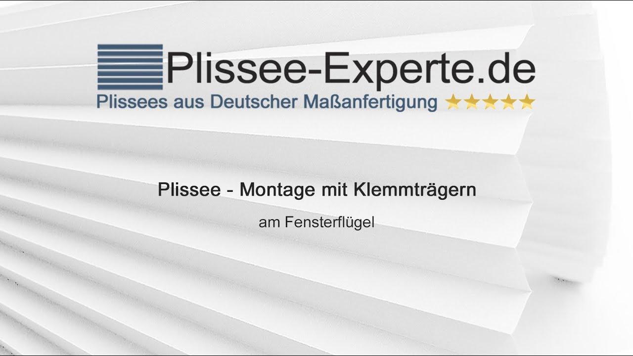 Häufig Plissee - Montage mit Klemmträgern (verspannte Plissees) - YouTube FT39