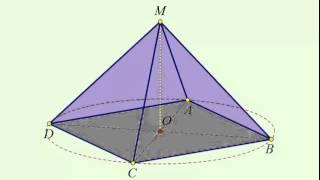 Правильная 4 угольная пирамида, у которой высота в 2 раза меньше диагонали