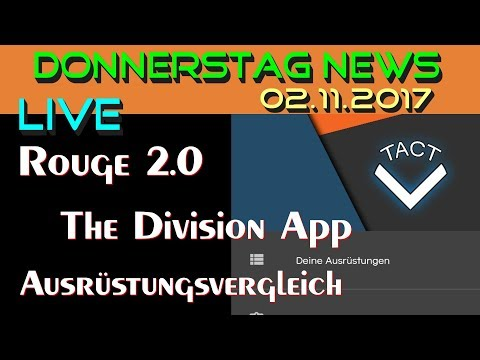 The Division Deutsch | Donnerstag News Live 02.11.2017 | Division App