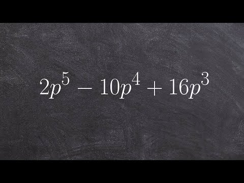 How to divide out the GCF to factor a polynomial to higher powers