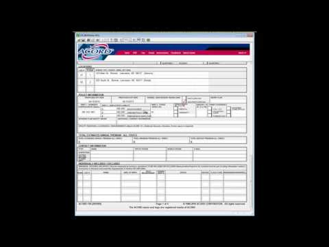 Acord 130   How To Complete Insurance Agency Quoting Forms