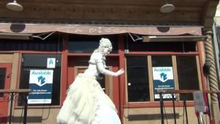 Angelique The Living Music Box Gaslamp Music & Art Festival San Diego 2012
