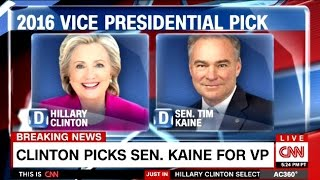 Breaking News - Senator Tim Kaine Is Hillary ...