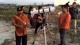 Tujuh Teleskop Milik Itera Abadikan Momen Hilal Ramadan 2017 Video