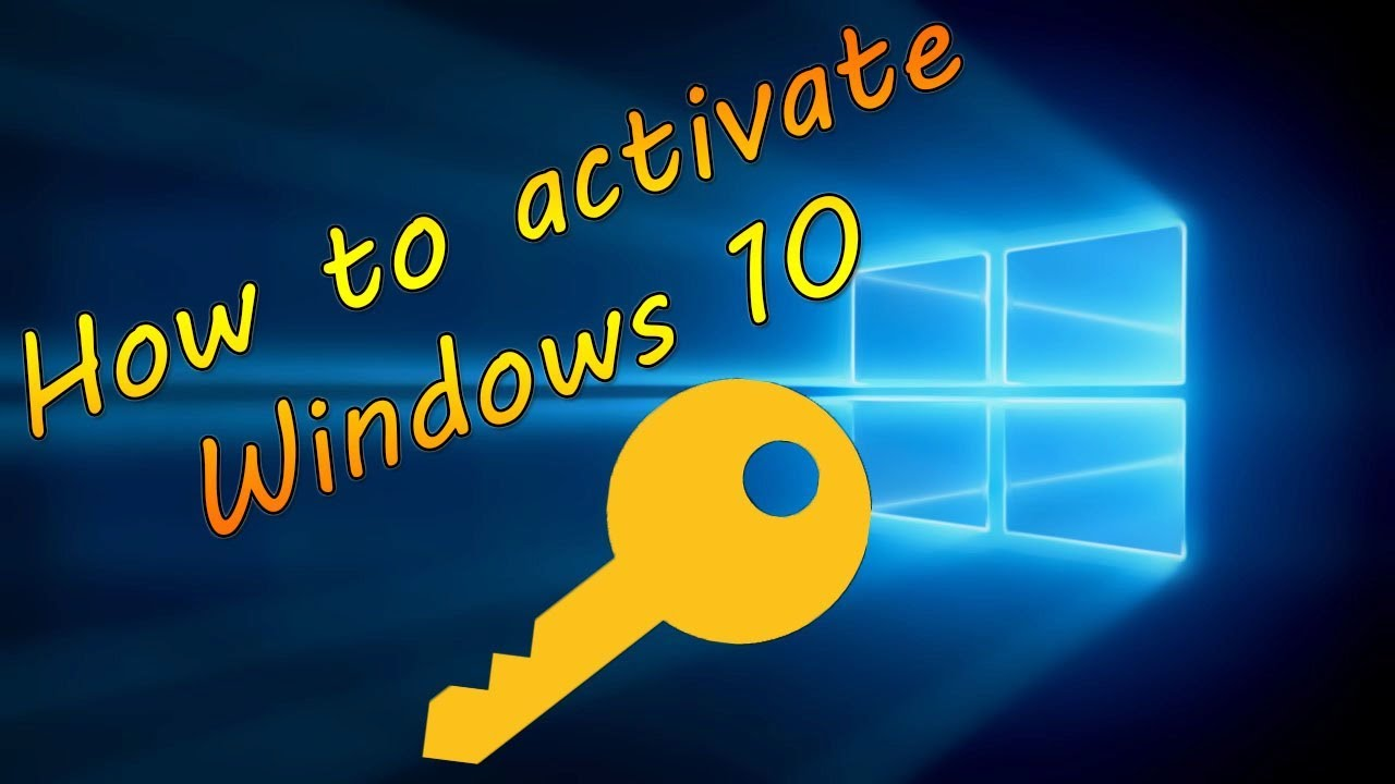 HOW TO ACTIVATE WINDOWS 10 PRODUCT KEY 2019 - YouTube