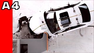 Audi A4 Crash Test 2017 vs 2012 vs 2002