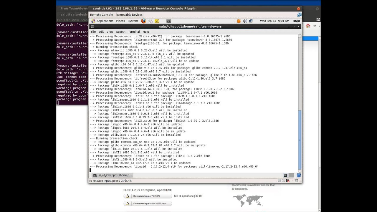 How to Install Teamviewer in CentOS