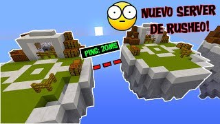 👉 20 DE PING Y ISLAS SUPER JUNTAS!!! - SkyWars Minecraft NUEVO SERVER RUSH NO PREMIUM 1.8