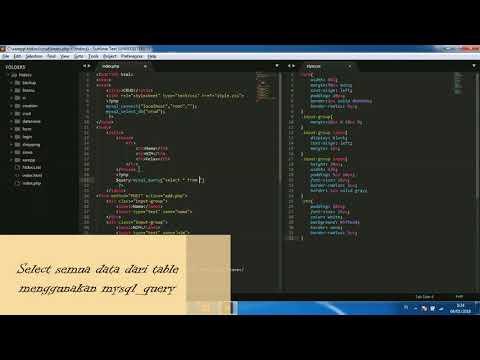 Tutorial CRUD (Create, Read, Update, Delete) PHP and Mysql