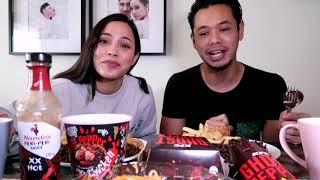 Mukbang feat. Shalma Ainaa: Nando's XX Hot, KFC & Mamee Ghost Pepper, Somtam