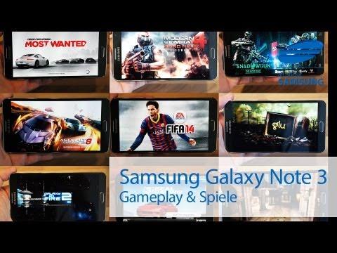 Samsung Galaxy Note 3 Spiele Games & Gameplay deutsch HD